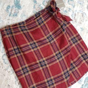 Vintage Tartan Jones New York Plaid Wrap Skirt 16
